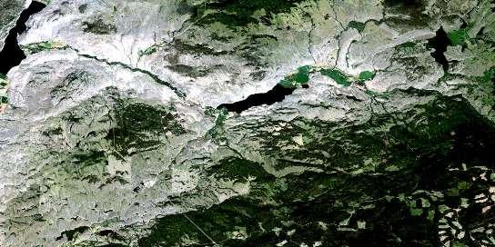 Douglas Lake Satellite Map 092I01 at 1:50,000 scale - National Topographic System of Canada (NTS) - Orthophoto