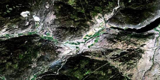 Merritt Satellite Map 092I02 at 1:50,000 scale - National Topographic System of Canada (NTS) - Orthophoto