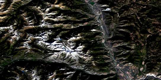 Stein River Satellite Map 092I05 at 1:50,000 scale - National Topographic System of Canada (NTS) - Orthophoto