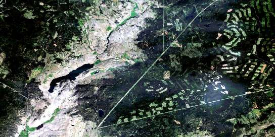 Stump Lake Satellite Map 092I08 at 1:50,000 scale - National Topographic System of Canada (NTS) - Orthophoto