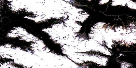 Air photo: Mount Dalgleish Satellite Image map 092J12 at 1:50,000 Scale