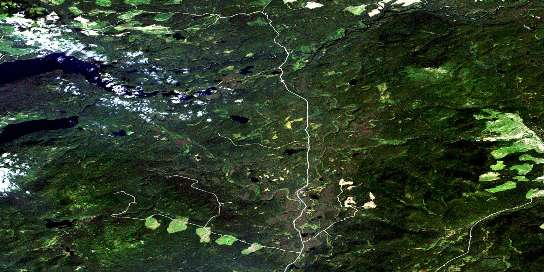 Wittsichica Creek Satellite Map 093N01 at 1:50,000 scale - National Topographic System of Canada (NTS) - Orthophoto