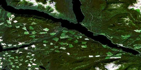 Sakeniche River Satellite Map 093N04 at 1:50,000 scale - National Topographic System of Canada (NTS) - Orthophoto
