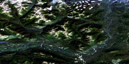 Germansen Landing Satellite Map 093N15 at 1:50,000 scale - National Topographic System of Canada (NTS) - Orthophoto