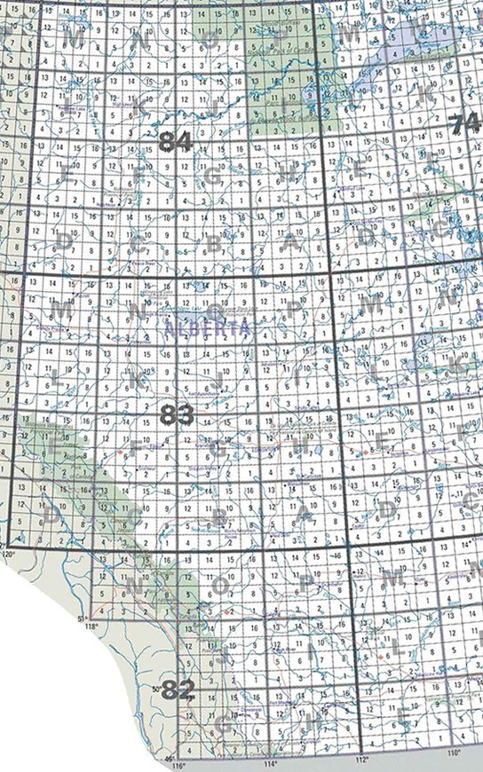 AB Topographic Map Index